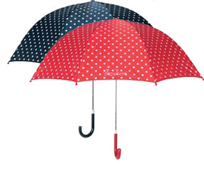 Spotty umbrellas from Playshoes