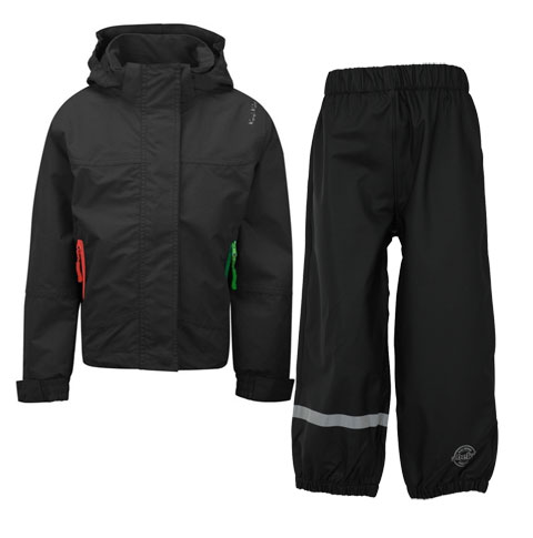 1d06306bb94 Waterproof   Breathable Jacket By Kozi Kidz in Black   Will Trousers by  Abeko