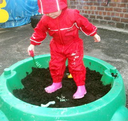 Outdoor Play in Puddle Suit