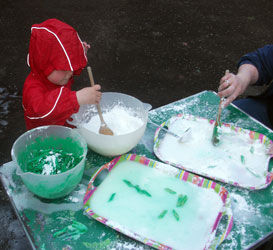 Messy Play in Puddle Suits