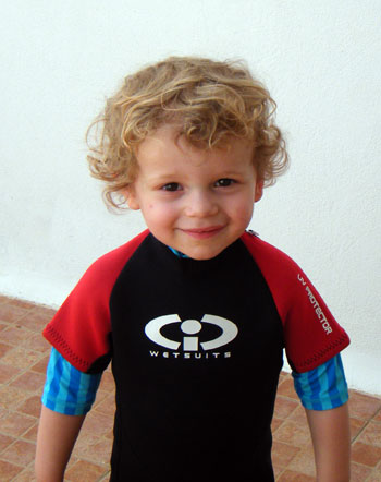 Thomas wearing  his TWF wetsuit