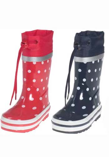 Spotty wellies from Playshoes