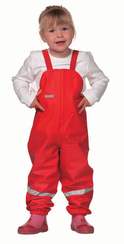 Ocean Dungarees in Red