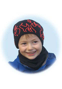 Boys Flamer Knitted Beanie Hat