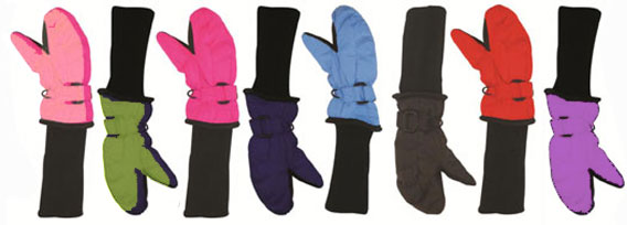 Choice of colours for Snowstopper mittens